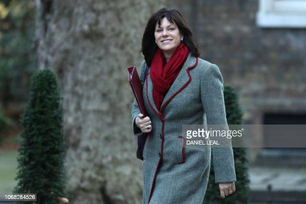 Britain's Minister of State at the Department for Business Energy and Industrial Strategy Claire Perry attends the weekly meeting of the cabinet at...