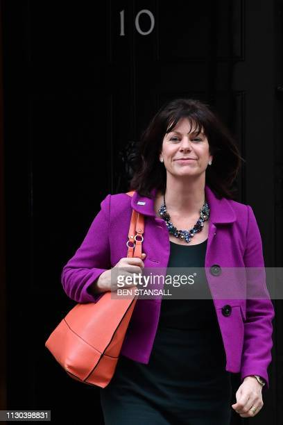 Britain's Minister of State at the Department for Business Energy and Industrial Strategy Claire Perry leaves after attending a Cabinet meeting at 10...