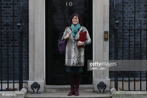 Britain's Minister of State at the Department for Business Energy and Industrial Strategy Claire Perry leaves 10 Downing street in central London...