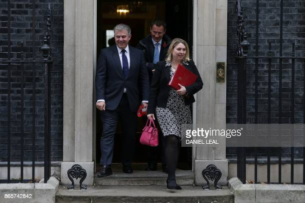 Britain's Minister of State for Immigration Brandon Lewis Britain's Health Secretary Jeremy Hunt and Britain's Culture Media and Sport Secretary...