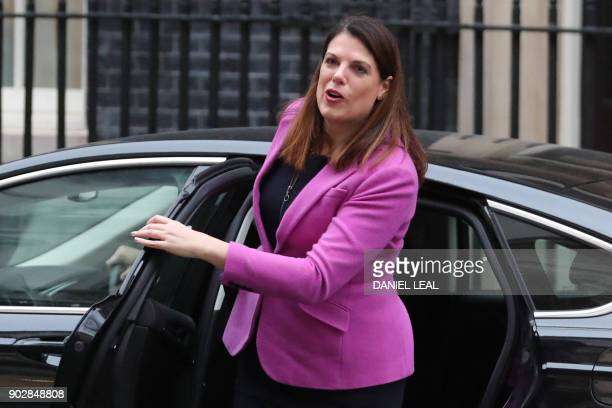 Britain's Minister of State for Immigration Caroline Nokes arrives at 10 Downing street in central London for the first cabinet meeting of the new...