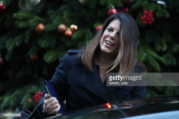 Britain's Minister of State for Immigration Caroline Nokes attends the weekly meeting of the cabinet at 10 Downing Street in London on December 4 2018