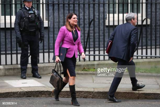 Britain's Minister of State for Immigration Caroline Nokes leaves 10 Downing street in central London for the first cabinet meeting of the new year...