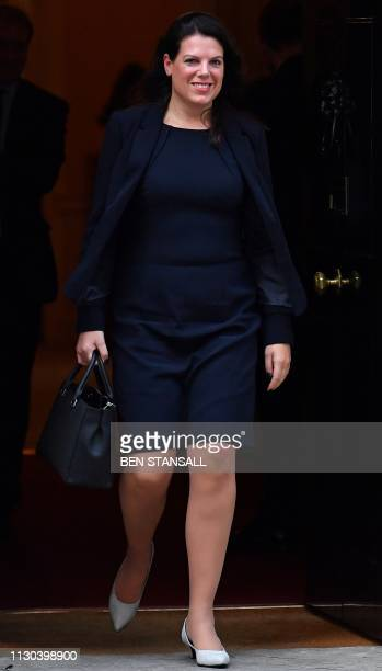 Britain's Minister of State for Immigration Caroline Nokes leaves after attending a Cabinet meeting at 10 Downing Street in London on March 14 ahead...