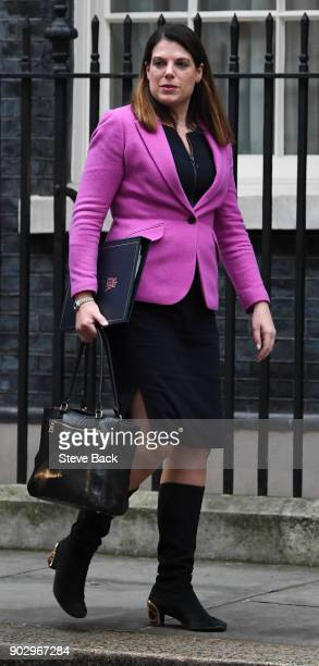 Britain's Minister of State for Immigration Caroline Nokes leaving 10 Downing street in central London after her first cabinet meeting of the new...