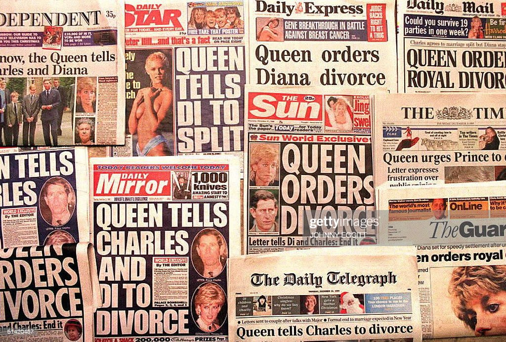 London's national newspapers headline 21 December the report that Queen Elizabeth has sent a letter to both Prince Charles and the Princess Diana spelling out her ' desire for an early divorce.'