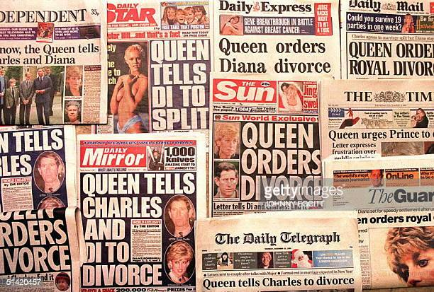 London's national newspapers headline 21 December the report that Queen Elizabeth has sent a letter to both Prince Charles and the Princess Diana...