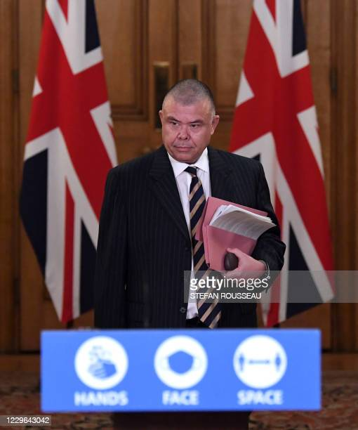 Britain's new Deputy Chief Medical Officer for England Jonathan VanTam arrives to attend a remote press conference to update the nation on the...