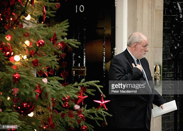 Britain's new Home Secretary Charles Clarke leaves Downing Street after attending cabinet following the resignation of David Blunkett, on December...