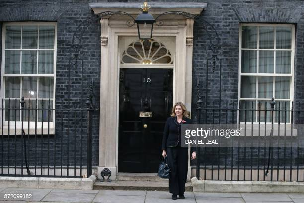 Britain's newly appointed International Development Secretary Penny Mordaunt leaves 10 Downing Street in London on November 9 after being appointed...