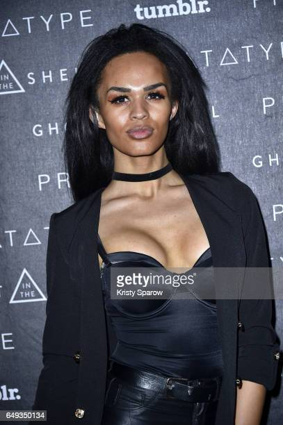 Britain's Next Top Model Talulah Eve Brown attends the Ghost in the Shell and Tumblr partner to explore the future of technology and fashion with a...