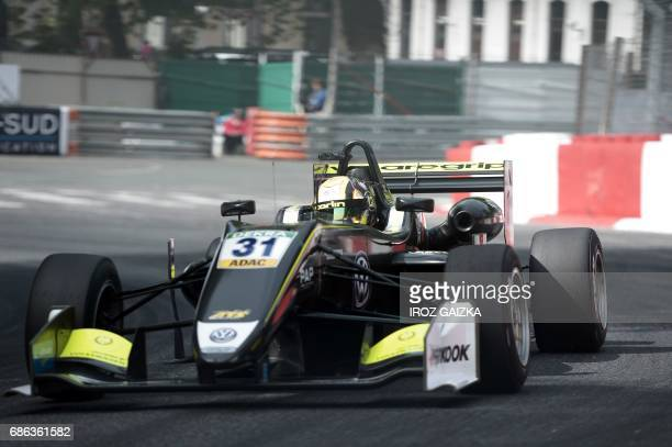 Britain's Norris Lando competes during the FIA Formula 3 European Championship on May 21 2017 in Pau southwestern France / AFP PHOTO / IROZ GAIZKA