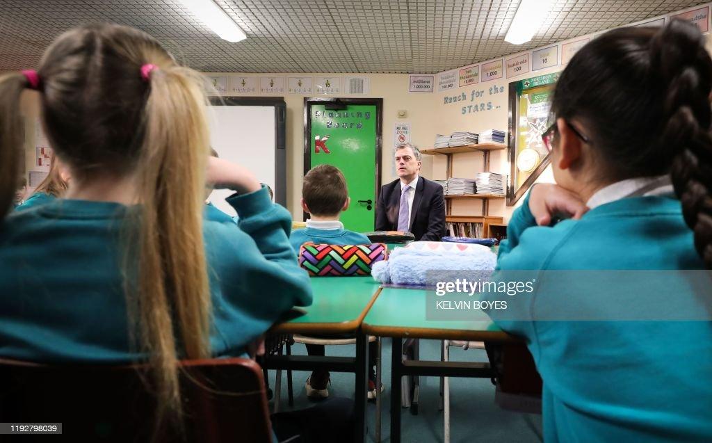 Britain S Northern Ireland Secretary Julian Smith Talks With School News Photo Getty Images