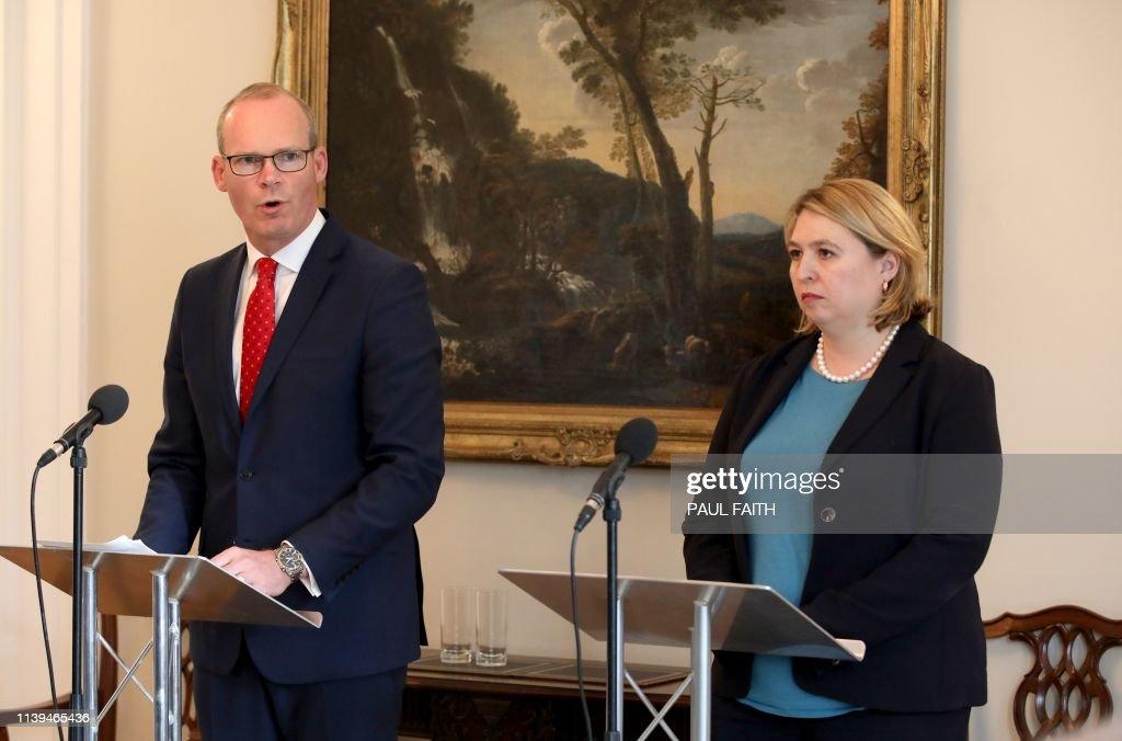 Britain S Northern Ireland Secretary Karen Bradley Listens As Irish News Photo Getty Images