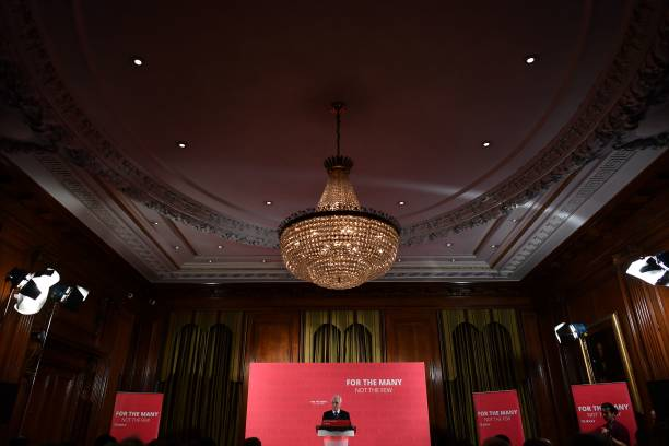 shadow chancellor delivers pre spring statement speech photos and