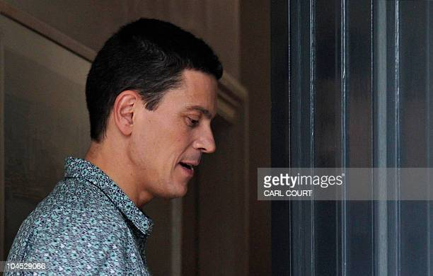 Britain's opposition Labour Party's former Foreign Secretary and defeated candidate for the party's Leadership David Miliband reenters his house...