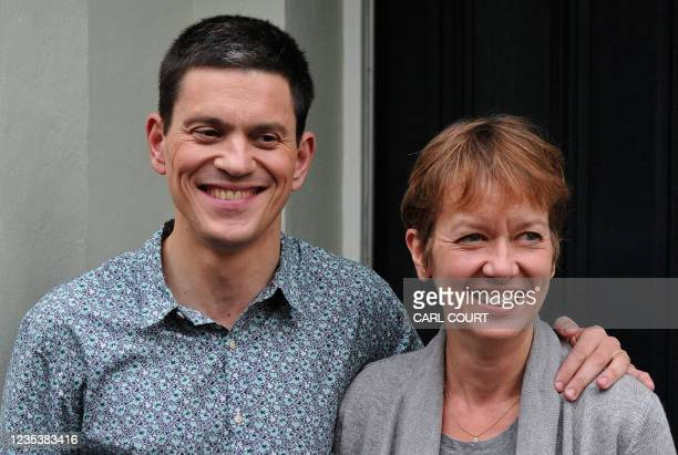 Britain's opposition Labour Party's former Foreign Secretary, and defeated candidate for the party's Leadership, David Miliband, poses for...