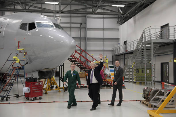 GBR: Boris Johnson Campaigns At The International Aviation Academy