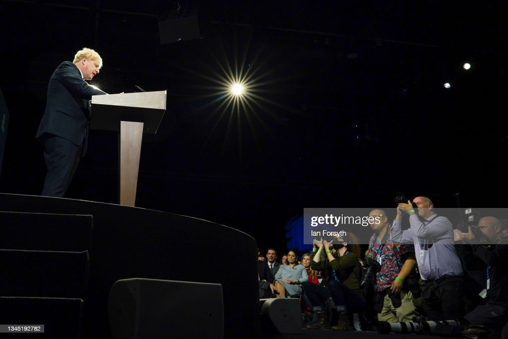2021 Conservative Party Conference - Leader's Speech : News Photo