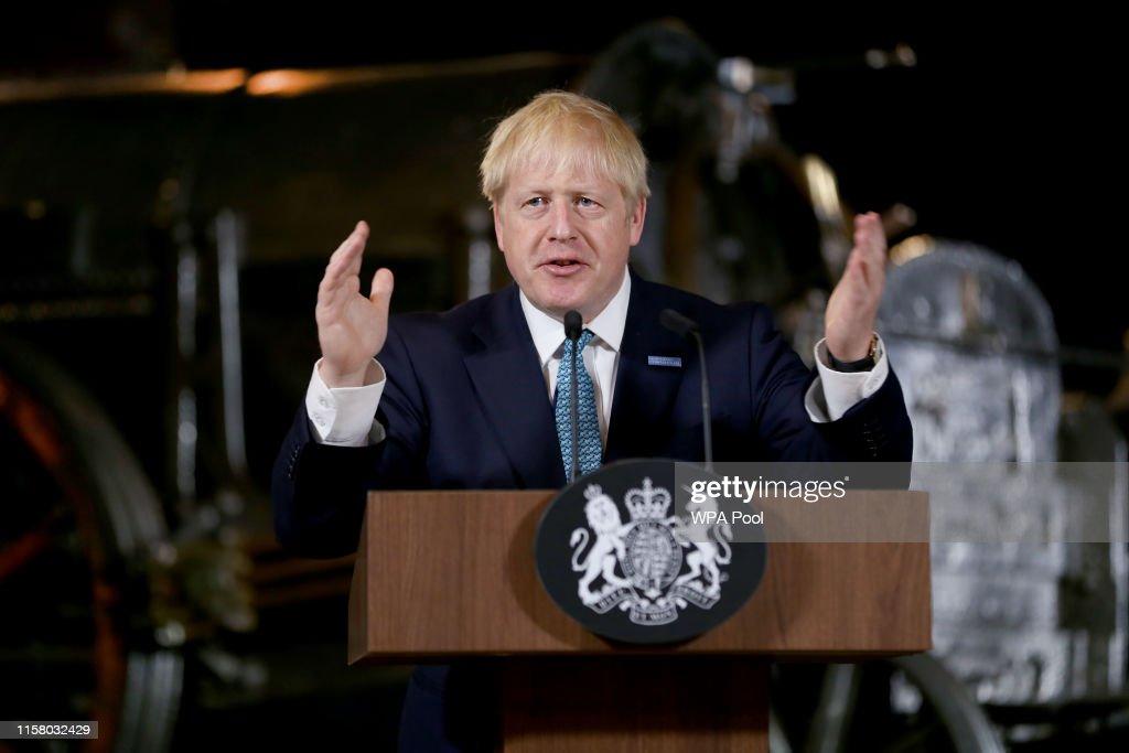 Boris Johnson Announces His Domestic Priorities In Manchester Speech : ニュース写真