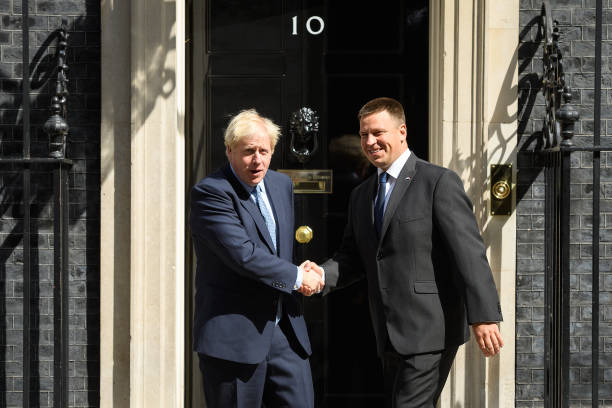 GBR: Estonian PM Visits Downing Street For PM Johnson's First Meeting With Foreign Leader