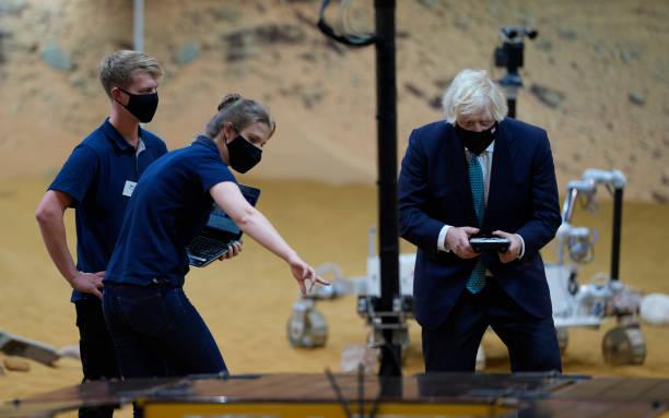 GBR: Boris Johnson Visits Stevenage