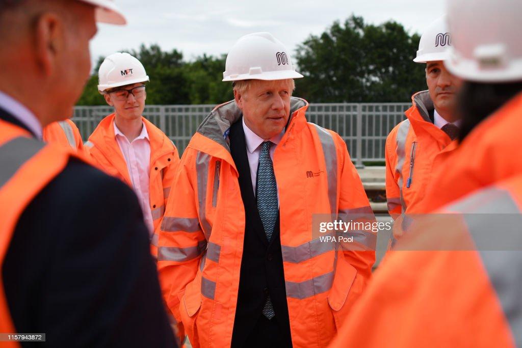 Boris Johnson Announces His Domestic Priorities In Manchester Speech : News Photo