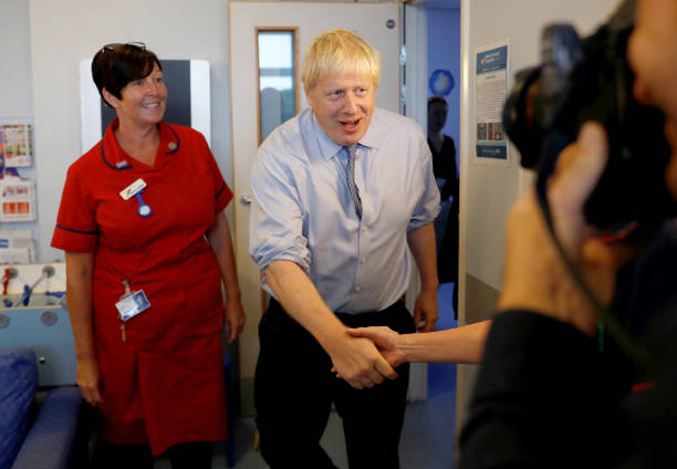 GBR: PM Boris Johnson Visits South Cornwall