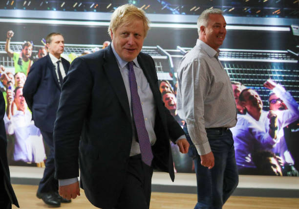 GBR: Boris Johnson Resumes Election Campaigning In Milton Keynes