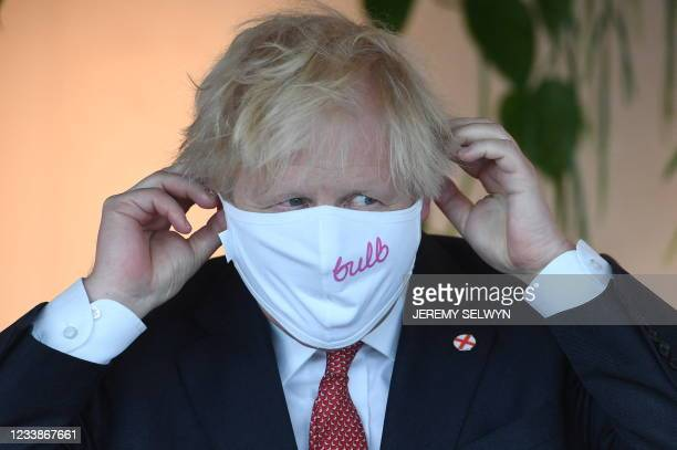 Britain's Prime Minister Boris Johnson visits the energy company Bulb in central London on July 8, 2021. Evening Standard Picture Picture Jeremy...