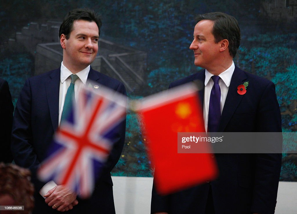 Britain's Prime Minister David Cameron And China's Premier Wen Jiabao Attend Signing Ceremony : News Photo