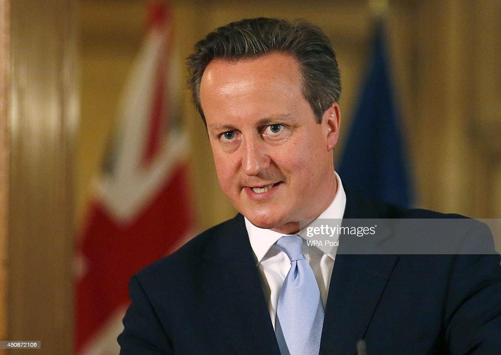 PM David Cameron Meets NATO Secretary General : News Photo