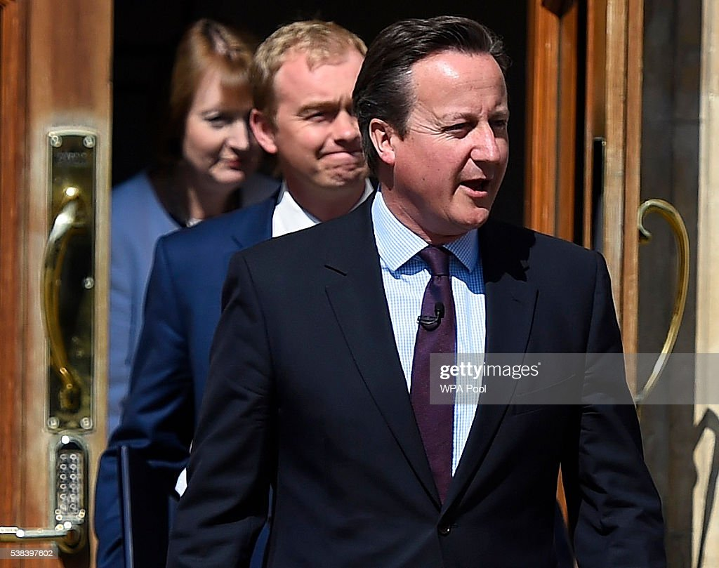 David Cameron Speaks For The Stronger In Campaign : News Photo