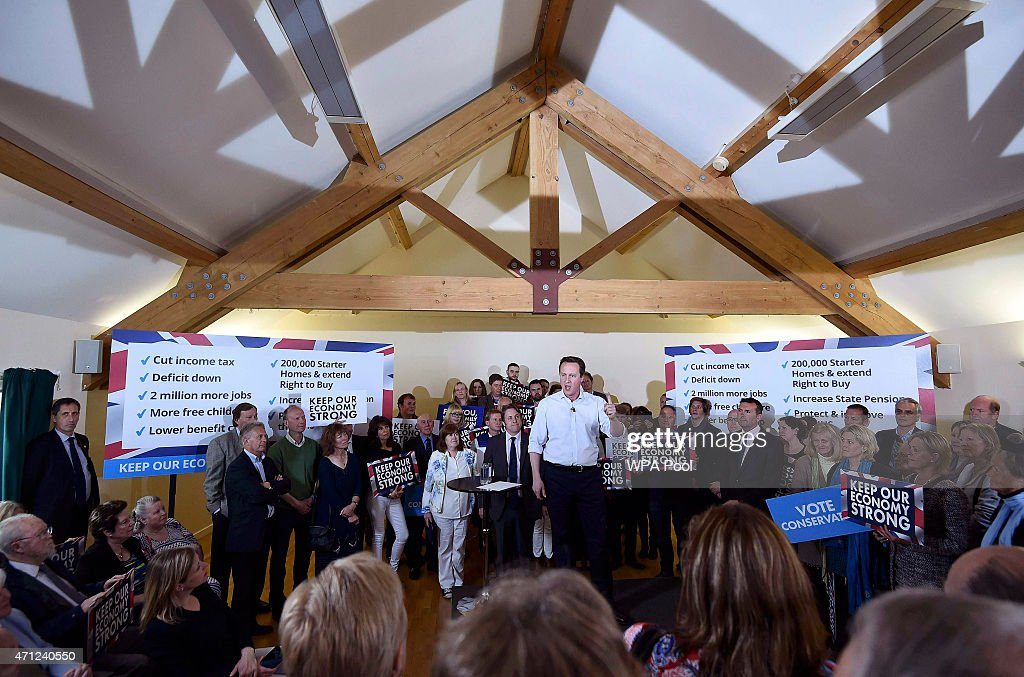 Conservatives Campaign In The Fourth Week Of The General Election : News Photo