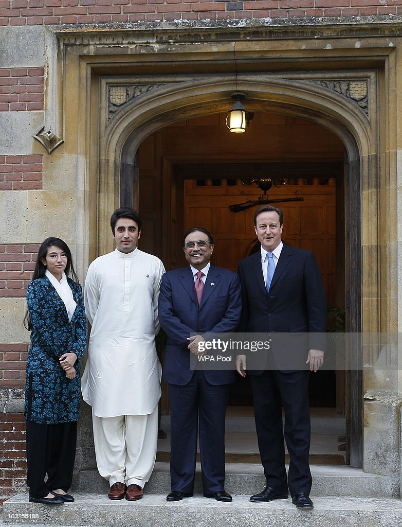 President Zardari Arrives For Dinner With David Cameron At Chequers