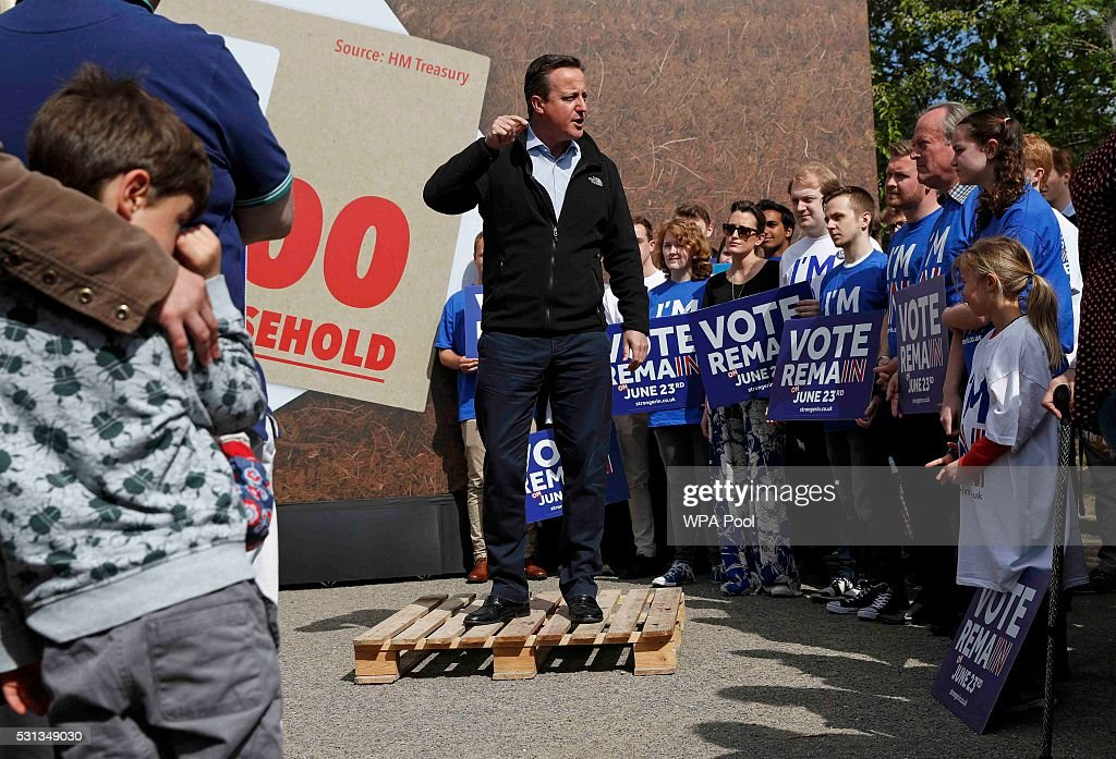 David Cameron Campaigns To Remain In The EU : News Photo