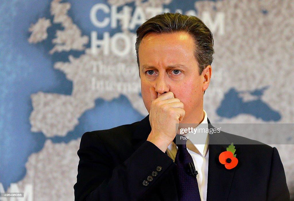David Cameron Gives A Speech On EU Reform : News Photo