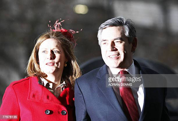 Britain's Prime Minister Gordon Brown and his wife Sarah arrive at Westminster Abbey in London 19 November 2007 for a service of celebration to mark...