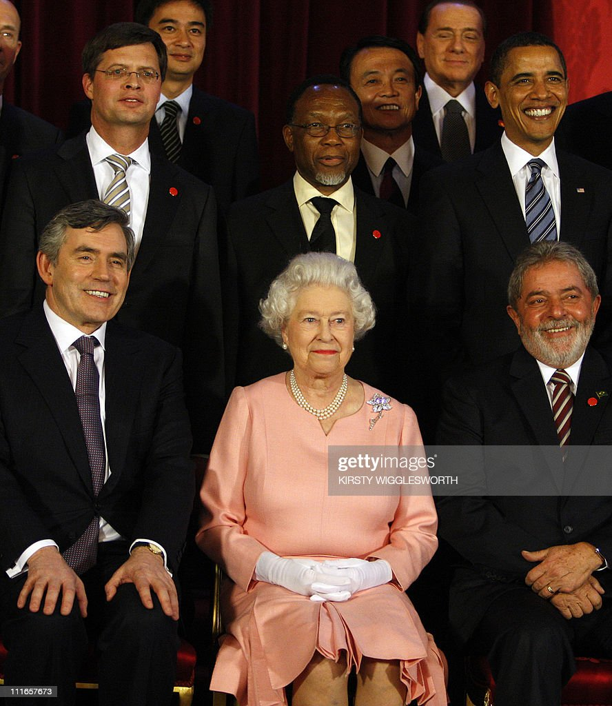 (First Row from L to R) Britain's Prime : News Photo