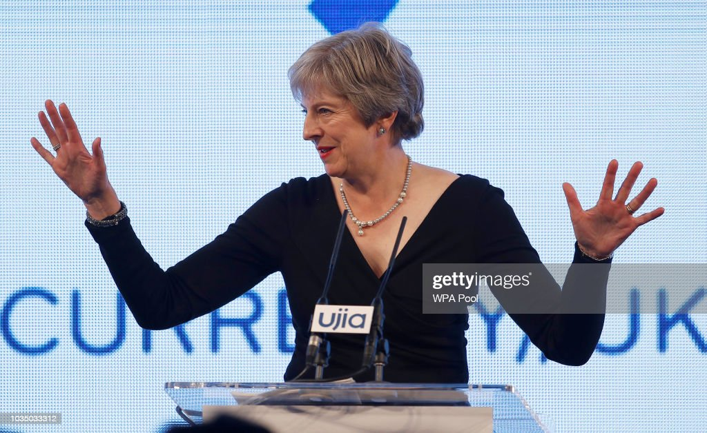 Theresa May Attends The United Jewish Israel Appeal Dinner