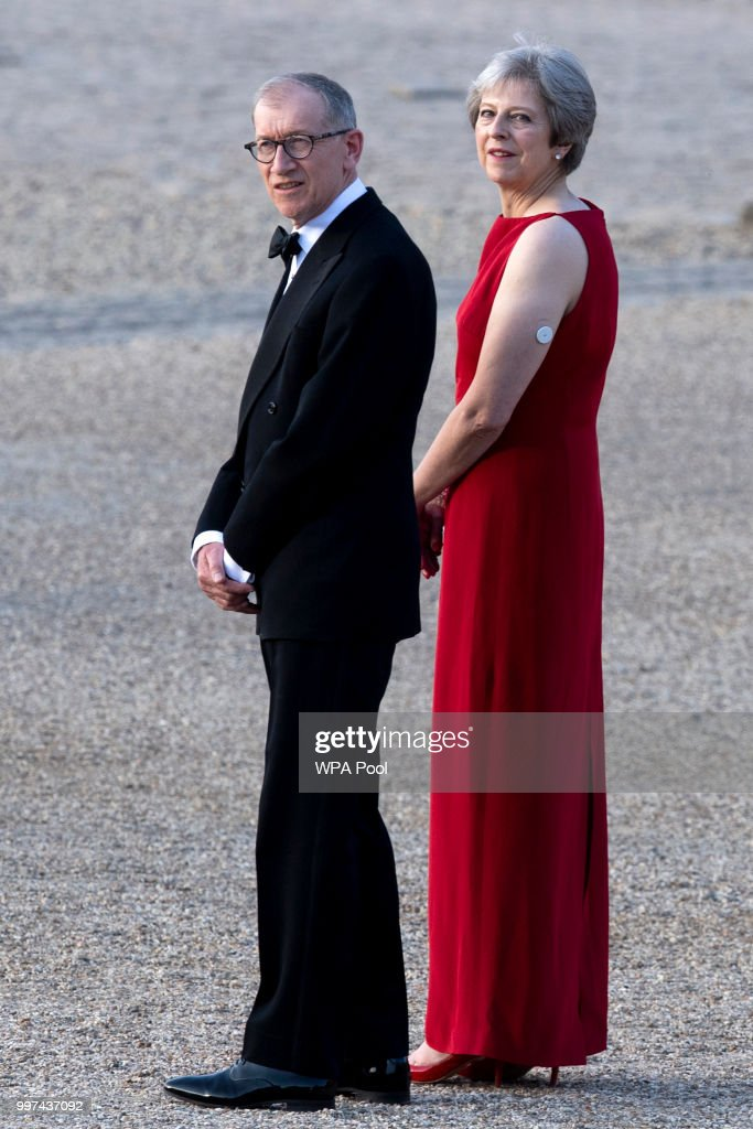 Arrival Ceremony At Blenheim Palace For President Donald Trump And The First Lady : News Photo