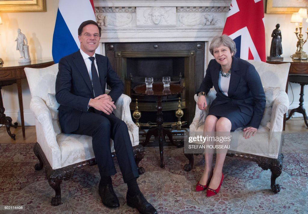 BRITAIN-NETHERLANDS-DIPLOMACY : News Photo