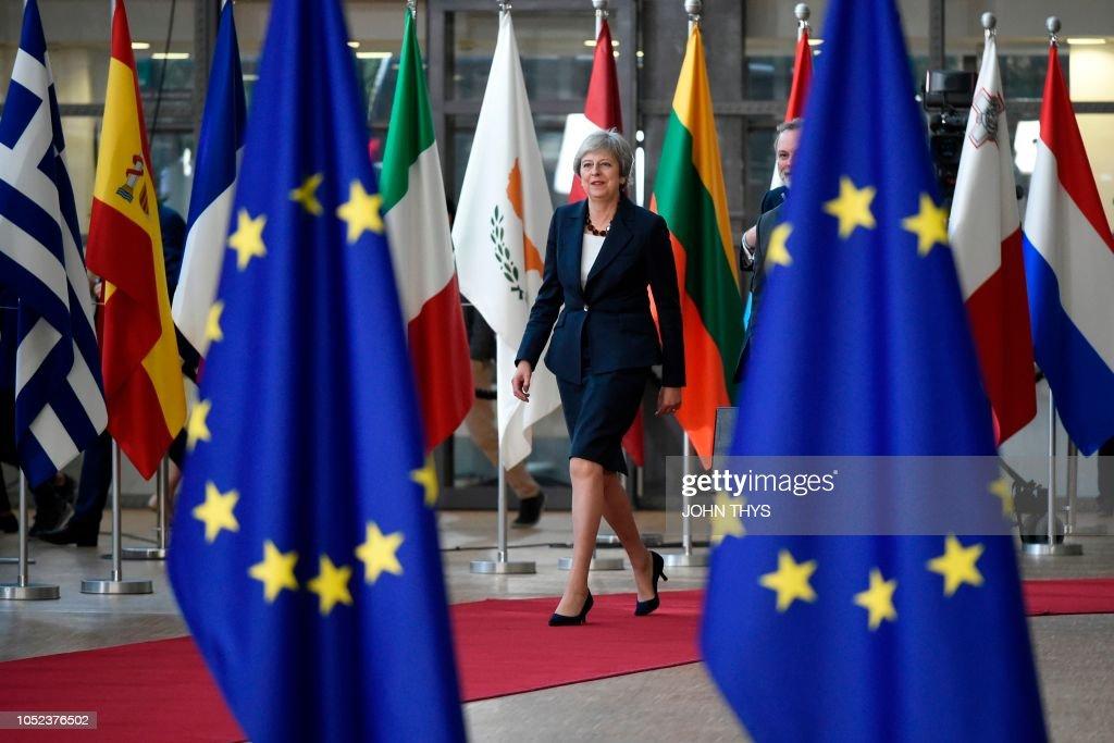 TOPSHOT-BELGIUM-EU-SUMMIT-BREXIT : News Photo
