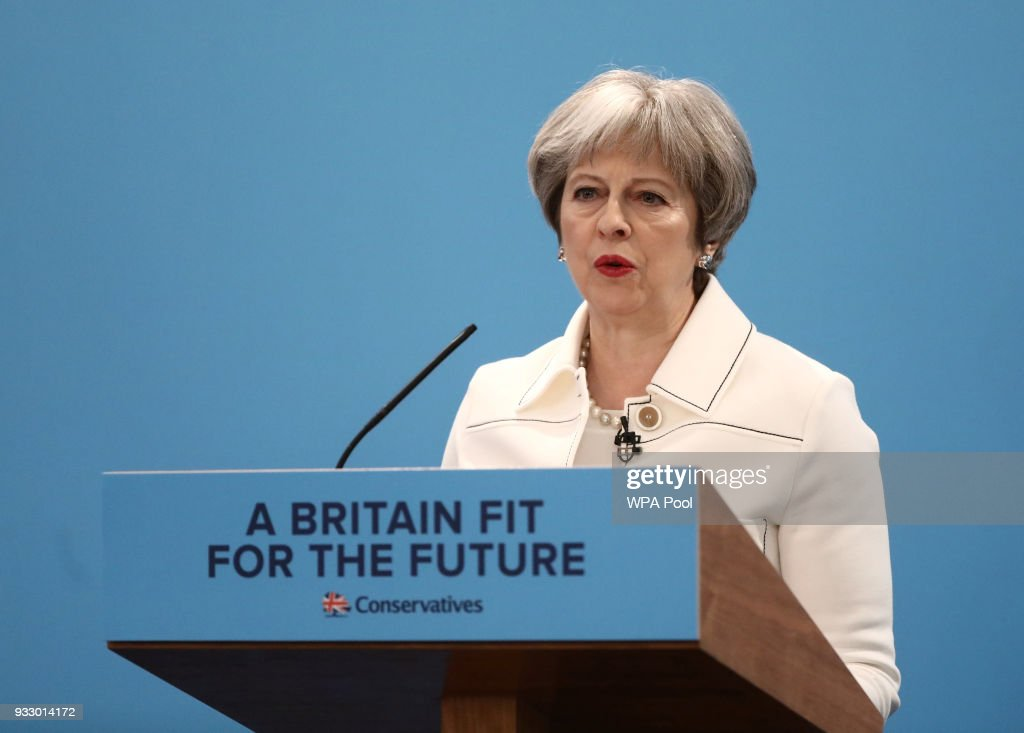 Theresa May Addresses The Conservative Spring Forum