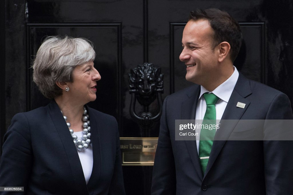 Theresa May Holds Talks With Ireland's Taoiseach