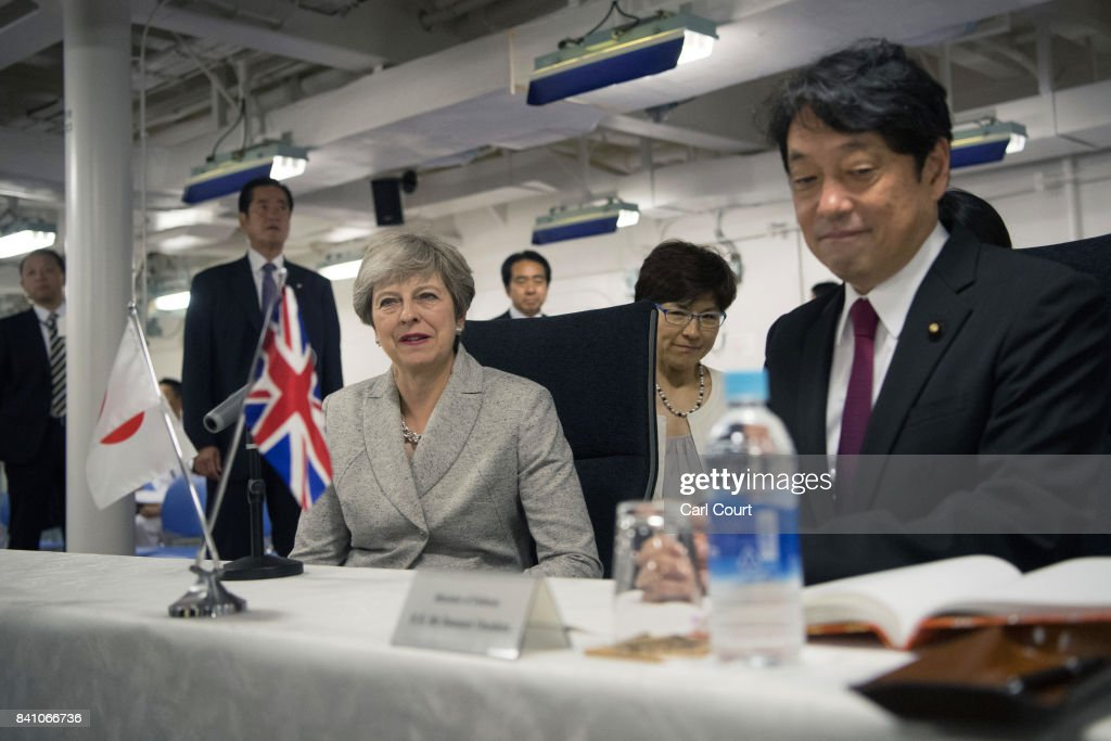 Theresa May's First Official Visit To Japan As Prime Minister- Day Two