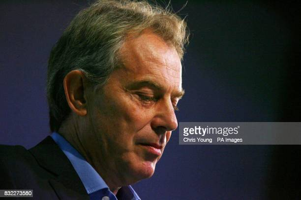 Britain's Prime Minister Tony Blair addresses the thinktank Progress conference in central London