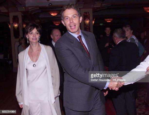 Britain's Prime Minister Tony Blair and his wife Cherie attending the annual 'Scots Night Ceilidh' in Bournemouth during the Labour Party Conference