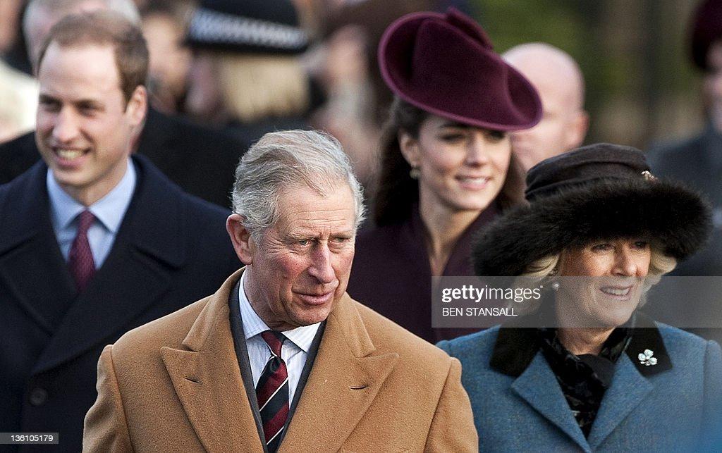 Britain's Prince Charles (2ndL) and Cami : News Photo