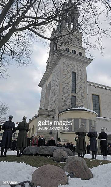 Britain's Prince Charles and Camilla the Duchess of Cornwall lay a wreath at the grave of priest Jerzy Popieluszko a Roman Catholic priest and...
